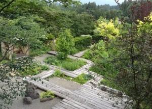 二階から見たナチュラル・ガーデン