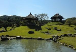 楽山園のお庭